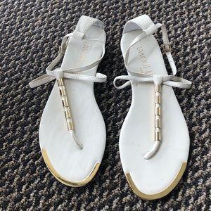 Dolce Vita Sweet Life White Sandal 8